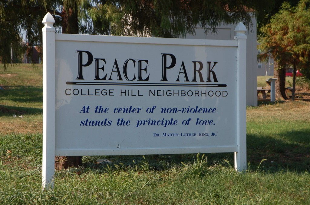 Peace Park Sign - otis woodard - dr martin luther king