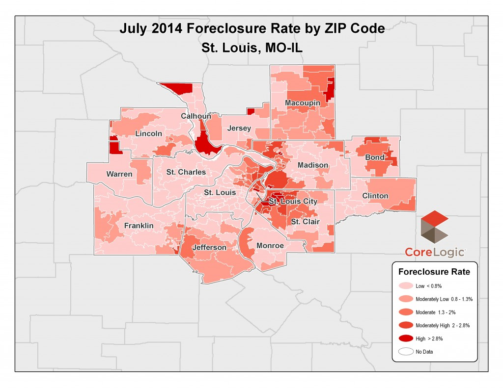 July 2014 Foreclosure Map