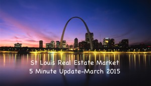 St Louis Home Prices and Home Sales Update March 2015 - VIDEO