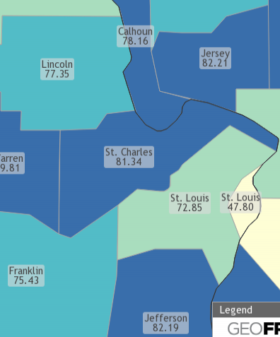St Louis Homeownership Rate By County